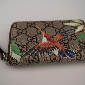 Gucci Tian GG Supreme Card Case Wallet
